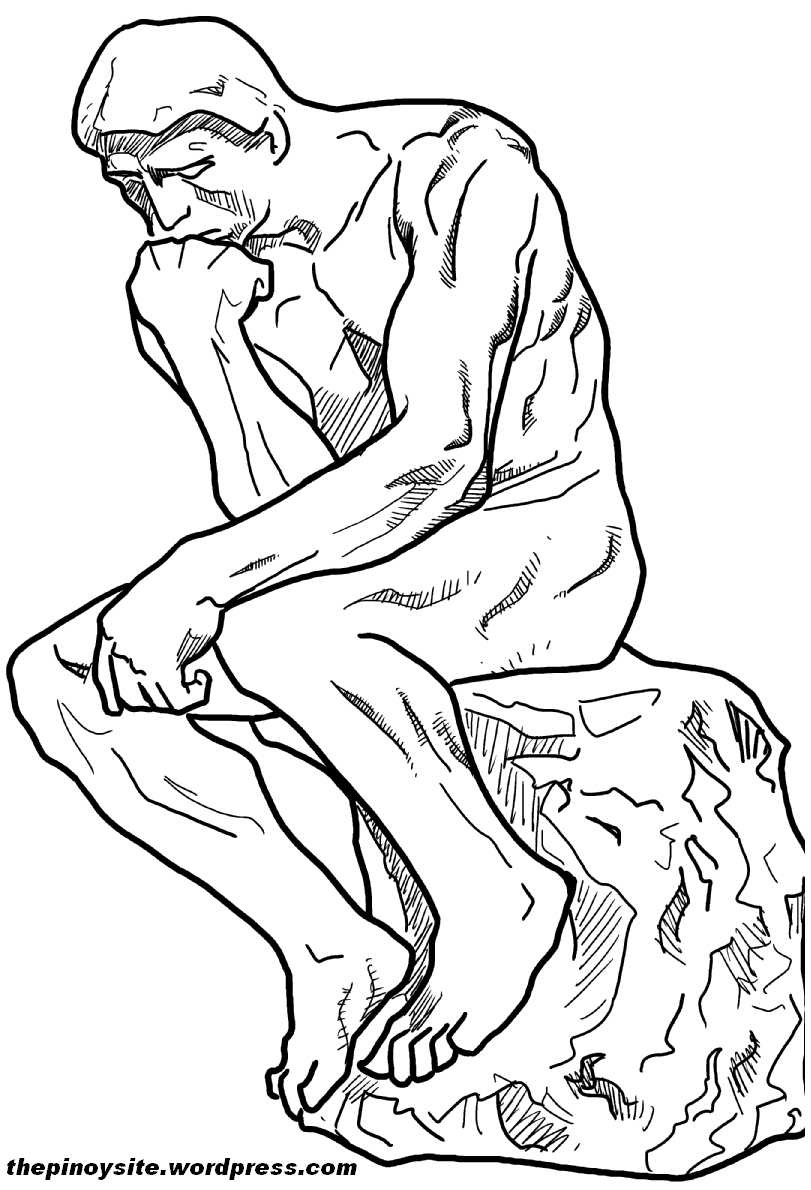 2020 Other | Images: Thinker Statue Drawing