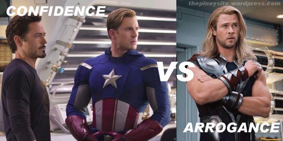 confidence versus arrogance