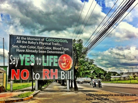 anti reproductive health care tarpaulin