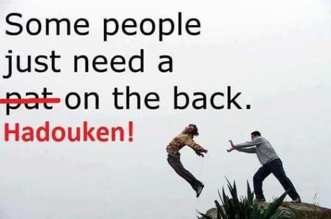 hadouken on the back