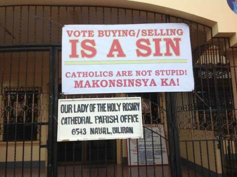 no to vote buying and selling