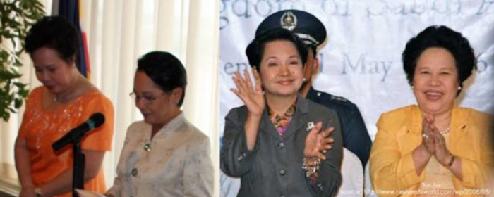gloria arroyo and miriam santiago