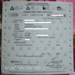 bagong format ng overseas employment certificate (OEC)