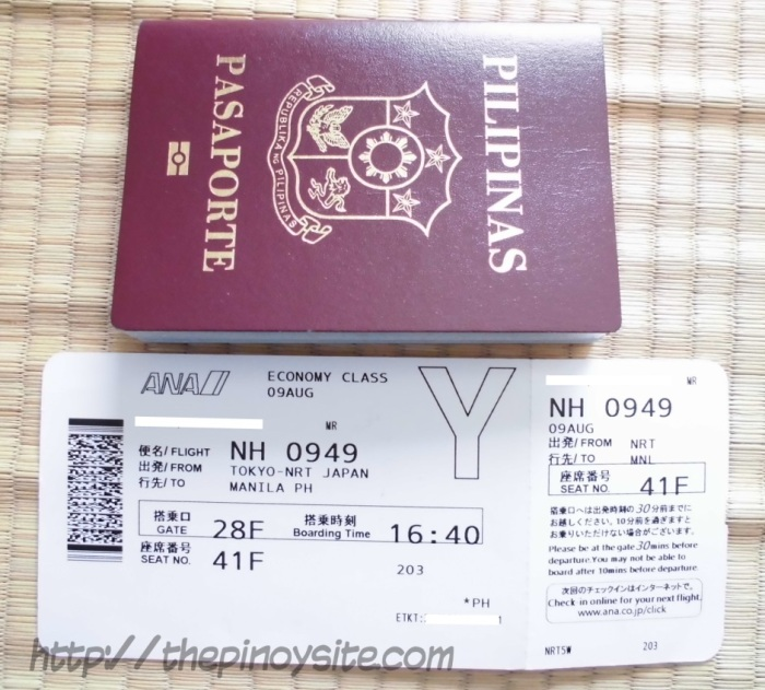 phil passport and sample boarding pass
