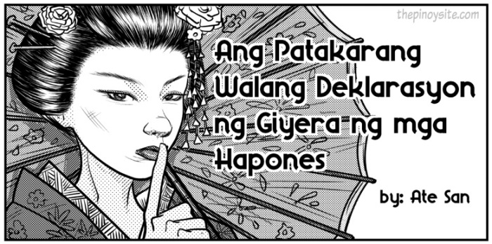 walang deklarasyon ng giyera