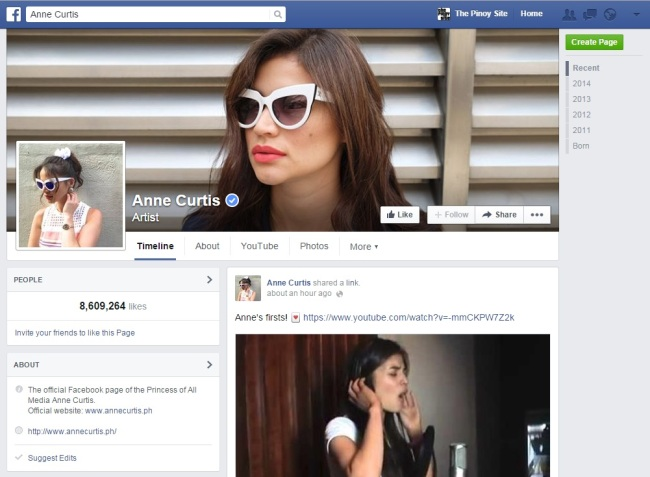 anne curtis fb page