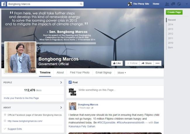 bongbong fb page