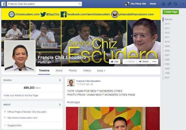 chiz escudero fb page