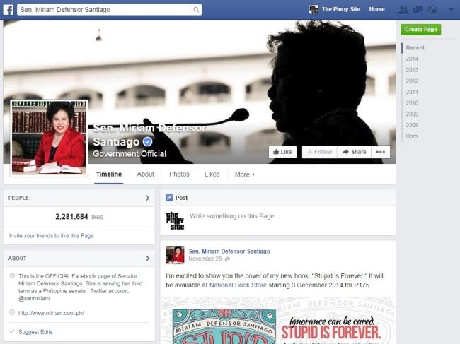 miriam santiago fb page