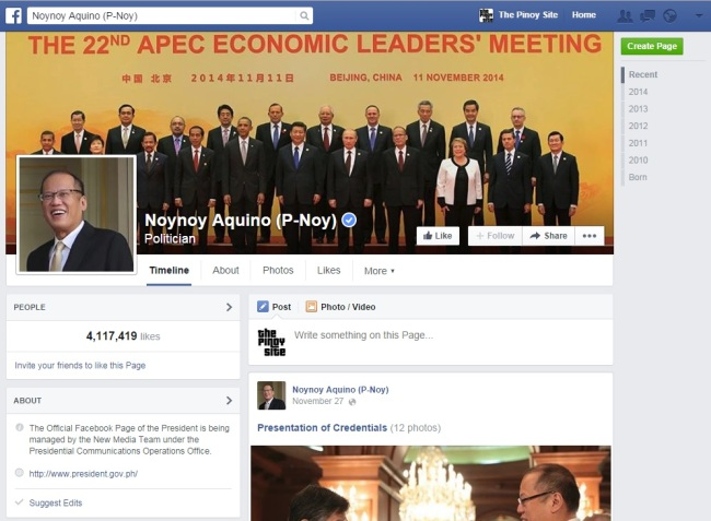 pnoy fb page