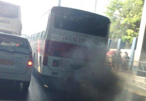 smoke belching bus