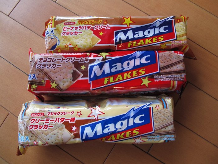 magic flake crackers japan