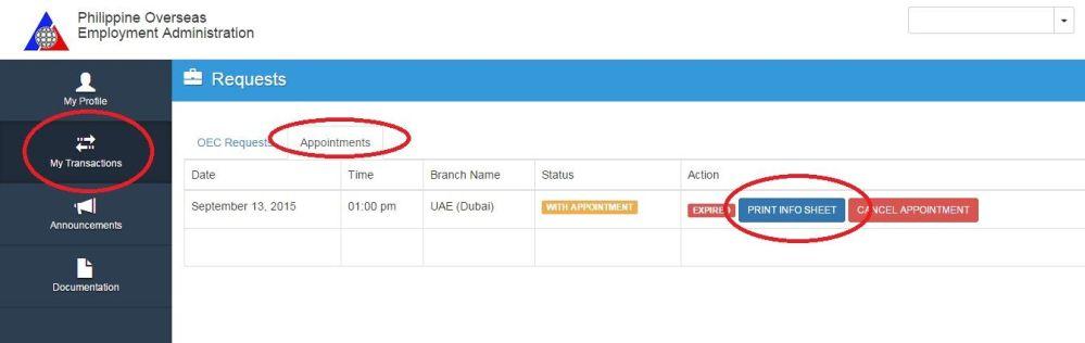 oec application online dubai (print info)