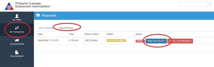 oec application online dubai (print info)