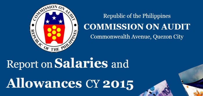 report on salaries and allowances of government officials 2015