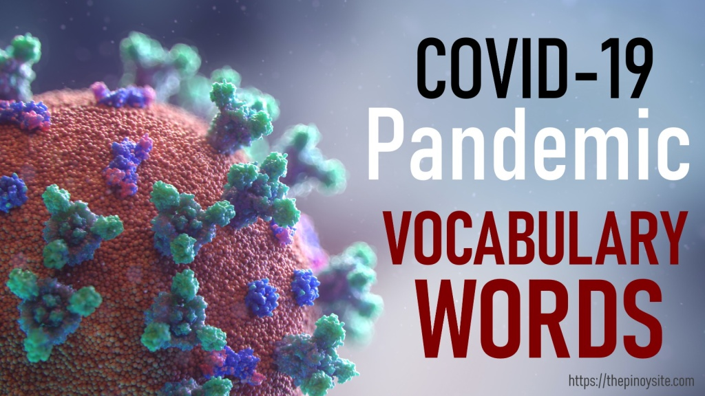 covid19 pandemic commonly used words